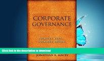 FAVORITE BOOK  Corporate Governance: Promises Kept, Promises Broken FULL ONLINE