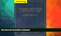 READ BOOK  Cengage Advantage Books: Modern Principles of Business Law: Contracts, the UCC, and