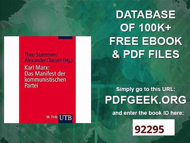 manifest der kommunistischen partei pdf