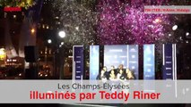 Paris: les Champs-Élysées illuminés par Teddy Riner