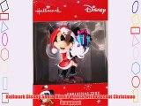 Hallmark Disney Santa Minnie Mouse with Present Christmas Ornament