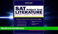 FAVORIT BOOK  Kaplan SAT Subject Test: Literature 2006-2007 (Kaplan SAT Subject Tests: Literature)