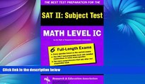 Deals in Books  SAT II: Math Level IC (REA) -- The Best Test Prep for the SAT II (SAT PSAT ACT