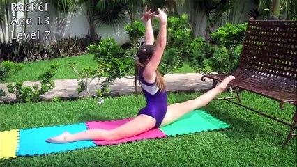 Very flexible girl gymnast