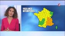 Intempéries Météo France place 20 départements en vigilance orange pluie inondation, orages ou vents violents_512x384