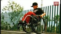Mira las acrobacias mortales en silla de ruedas