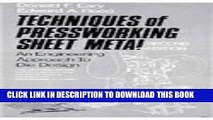 PDF] Techniques of Pressworking Sheet Metal: An Engineering