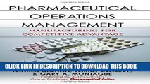 PDF [FREE] Download Pharmaceutical Operations Management