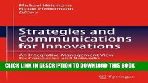 [READ] Ebook Strategies and Communications for Innovations: An Integrative Management View for