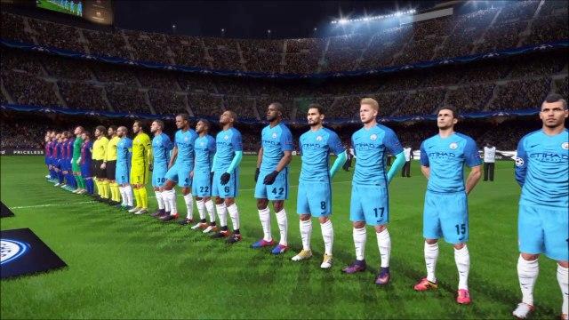 PES2017 UEFA Champions League 2016 F.C.Barcelona×Manchester City~Grope League 5th Match~