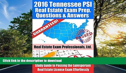 EBOOK ONLINE 2016 Tennessee PSI Real Estate Exam Prep