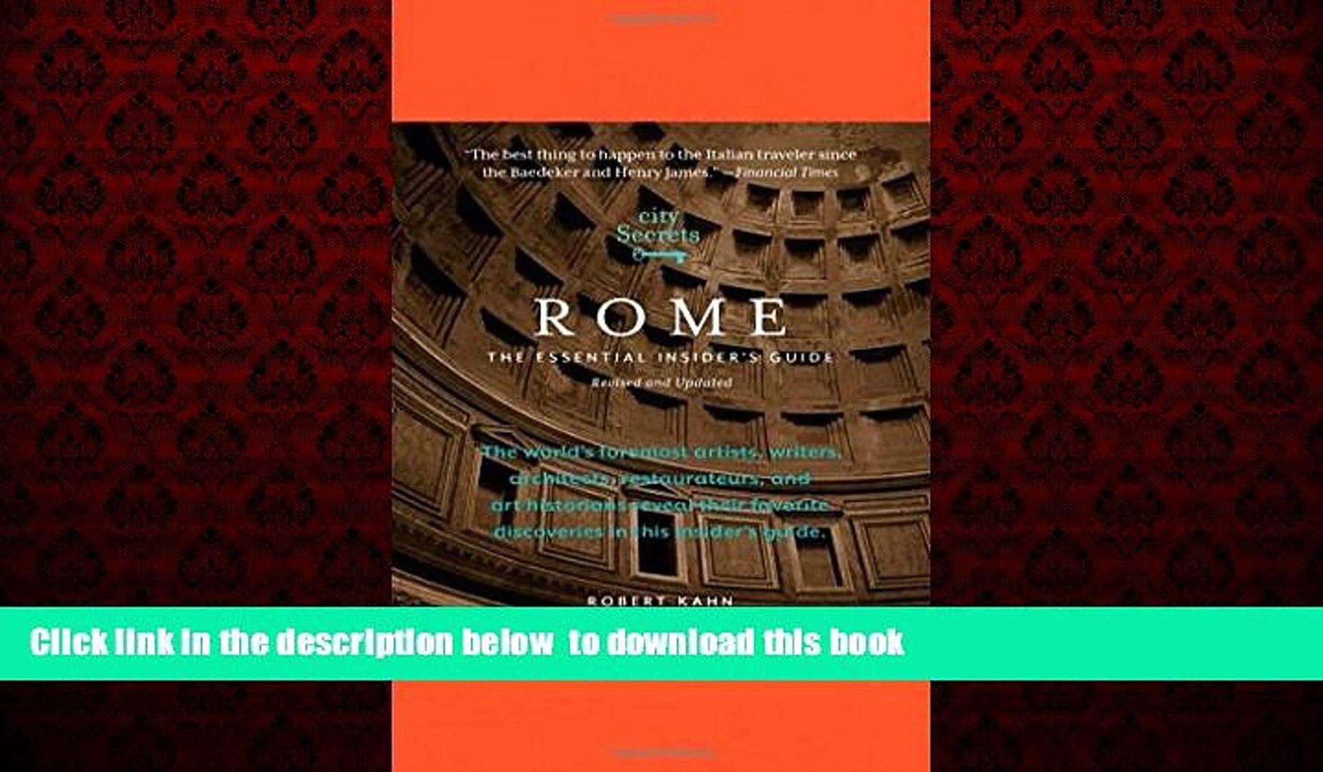 City Secrets Rome: The Essential Insiders Guide
