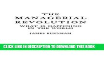 [PDF] The Managerial Revolution: What is Happening in the World Full Online