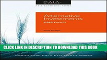 [PDF] Epub Alternative Investments: CAIA Level II (Caia Knowledge) Full Online