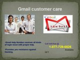 Gmail customer care service number 1-877-729-6626 to get Gmail solutions in no time