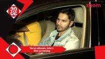 Varun Attends John's Force 2 Film Screening - Alia Says We Could Hear Shahrukh Khan's Tummy Growling