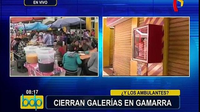 La Victoria: clausuran galerías en emporio comercial de Gamarra