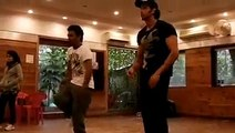 Hrithik Roshan dance practice with dharmesh - video dailymotion