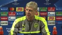 Arsene Wenger and David Ospina pre Arsenal vs PSG