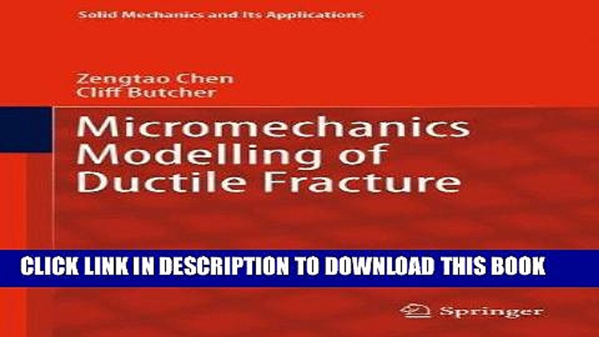 Modelling and Experiment: Volume 539 Fracture and Ductile vs Theory Brittle Behavior