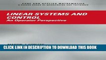 Linear Systems and Control: An Operator Perspective