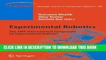 [READ] Online Experimental Robotics: The 10th International Symposium on Experimental Robotics