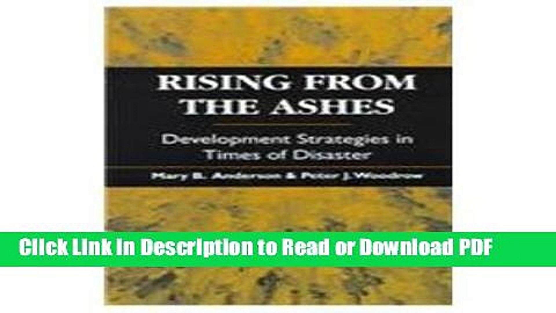 PDF Rising from the Ashes: Development Strategies in Times of Disaster Book Online
