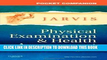 Best Seller Pocket Companion for Physical Examination and Health Assessment, 6e (Jarvis, Pocket