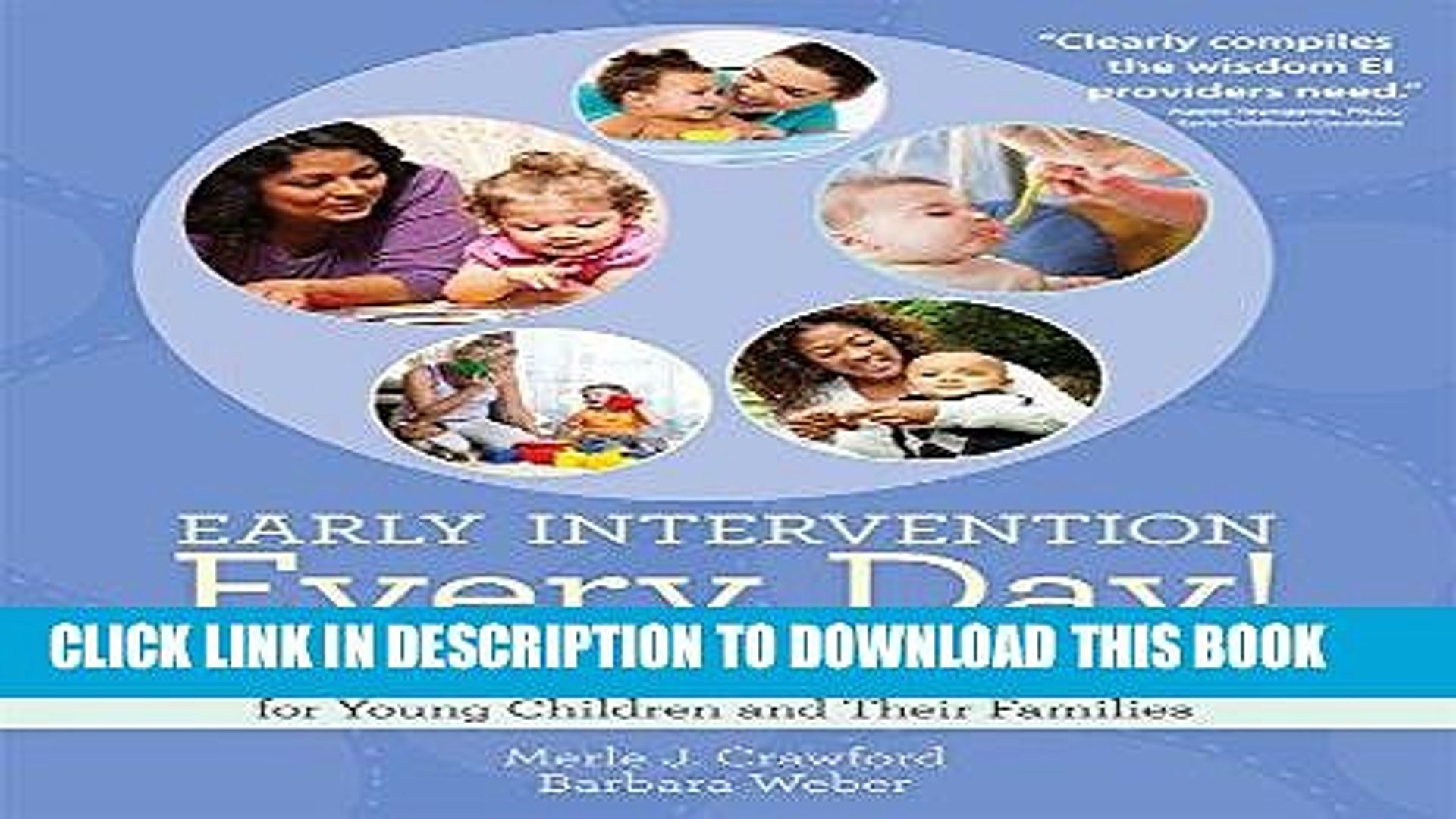 [FREE] Ebook Early Intervention Every Day!: Embedding Activities in Daily Routines for Young