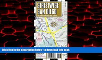 liberty books  Streetwise San Diego Map - Laminated City Center Street Map of San Diego,