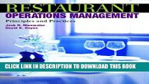 PDF Download Restaurant Operations Management Principles and