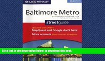 Best book  Rand McNally Baltimore Metro Streetguide, Maryland: Including Baltimore, Anne Arundel,