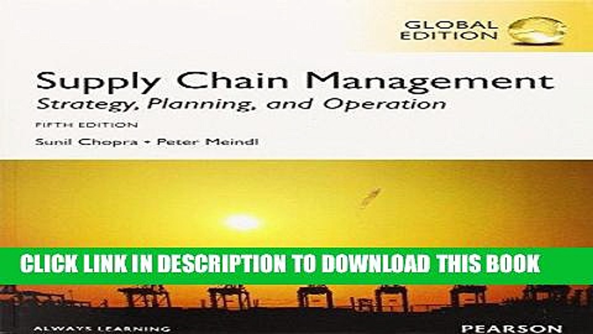 [PDF] FREE Supply Chain Management: Strategy, Planning, and Operation   Sunil Chopra [Download]
