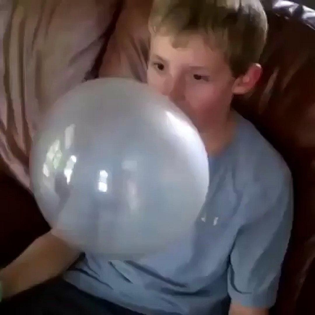 Funny Boy With Gum