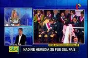 """Avelino Guillén sobre viaje de Nadine Heredia: """"Estado peruano debe reaccionar, es una burla al sistema judicial"""""""