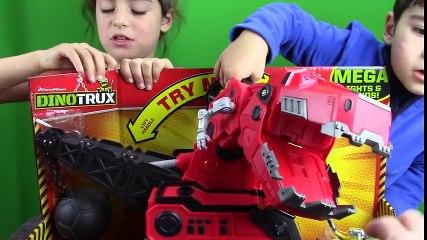 Dino Trucks Toys! DinoTrux Mega Chompin  Ty Rux & Revvit UNBOXING