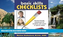 Big Sales  Basic Skills Checklists: Teacher-Friendly Assessment for Students with Autism or