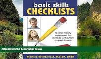 Buy NOW  Basic Skills Checklists: Teacher-Friendly Assessment for Students with Autism or Special