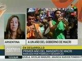 Argentinos critican medidas neoliberales de Macri