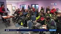 Haute-Savoie : les sapeurs-pompiers s'entraînent aux évacuations d'urgence sur les pistes de ski