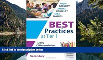 Buy NOW  Best Practices at Tier 1: Daily Differentiation for Effective Instruction, Secondary (RTI