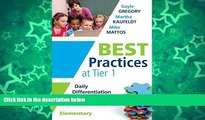 Big Sales  Best Practices at Tier 1: Daily Differentiation for Effective Instruction, Elementary
