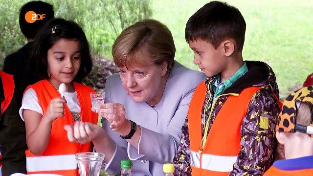Toll! Merkel stößt auf!