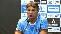 Renato Gaúcho brinca e diz que Geromel não pode ser comparado a ele: 'Menos. Bem menos'