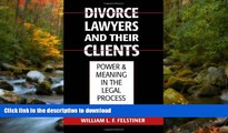 FAVORITE BOOK  Divorce Lawyers and Their Clients: Power and Meaning in the Legal Process FULL
