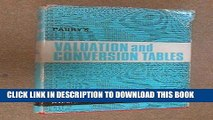 EPUB Valuation Tables and Conversion Tables PDF Ebook