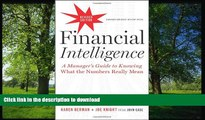 Audiobook Financial Intelligence, Revised Edition: A Manager s Guide
