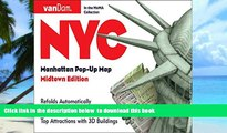 liberty book  Pop-Up NYC Map by VanDam - City Street Map of New York City, New York - Laminated