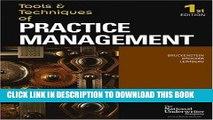 KINDLE Tools   Techniques Of Practice Management (The Tools   Techniques) (The Tools   Techniques)