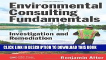 [PDF] Environmental Consulting Fundamentals: Investigation and Remediation Full Online
